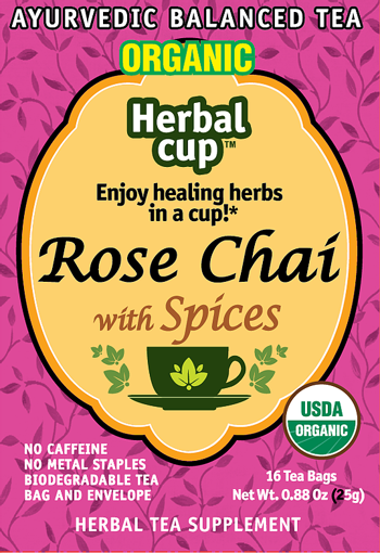 Rose Chai with Spices-Front