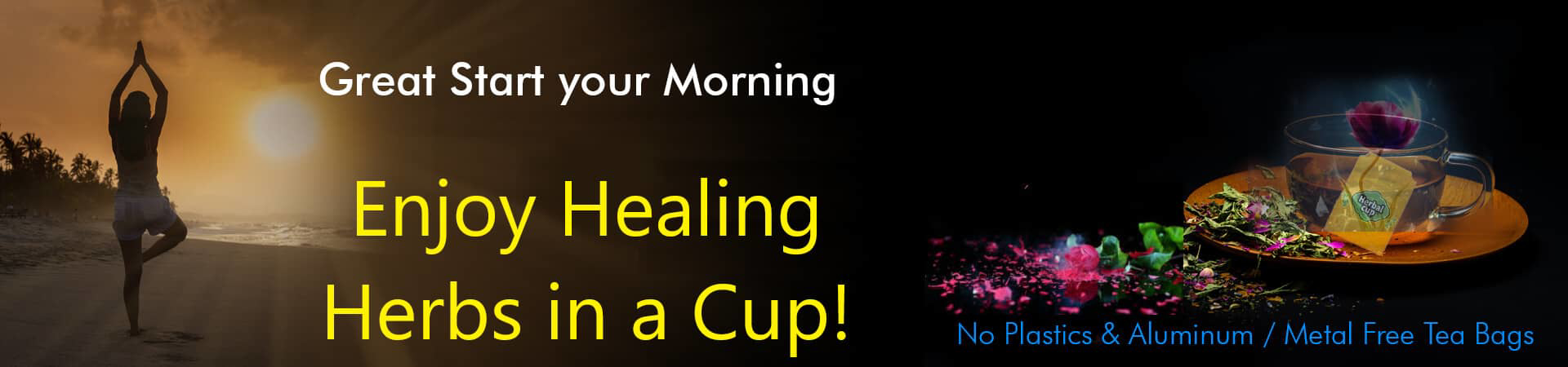 Herbal Cup Tea SignUp Banner